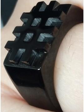 Ανδρικό μοντέρνο δαχτυλίδι Triseza