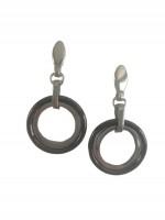 Γυναικείο μοντέρνο ατσάλινο σκουλαρίκι Circles