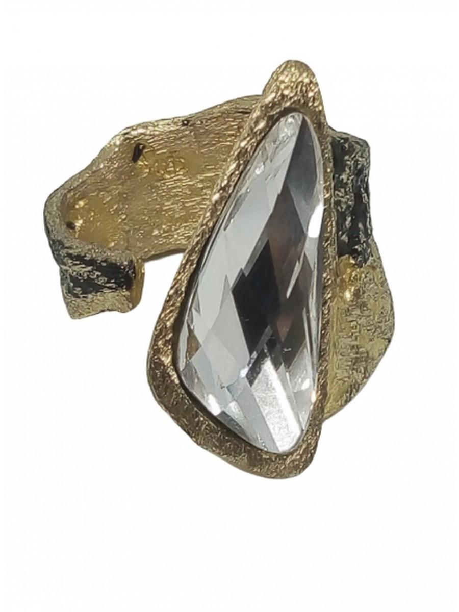 Δαχτυλίδι ορειχάλκινο χειροποίητο Opus4 Gold Rain