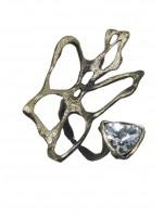 Δαχτυλίδι ορειχάλκινο χειροποίητο Opus4 Bronze Fossil