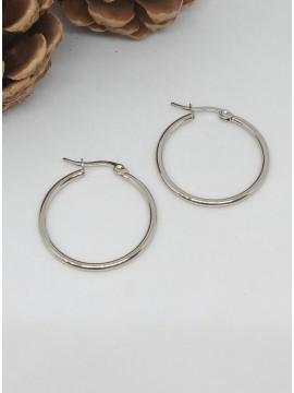 Σκουλαρίκι κρίκος ατσάλινος mini silver