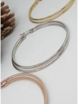 Σκουλαρίκι κρίκος ατσάλινος silver