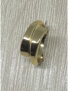 Δαχτυλίδι χειροποίητο γυναικείο διπλό τελείωμα gold
