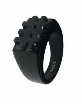 Ανδρικό ατσάλινο δαχτυλίδι Triseza